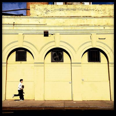 jogging at Bushwick, Brooklyn by Brooklyn  Theory