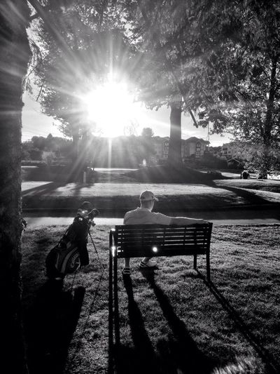 Golf Black And White Sunset Vancouver
