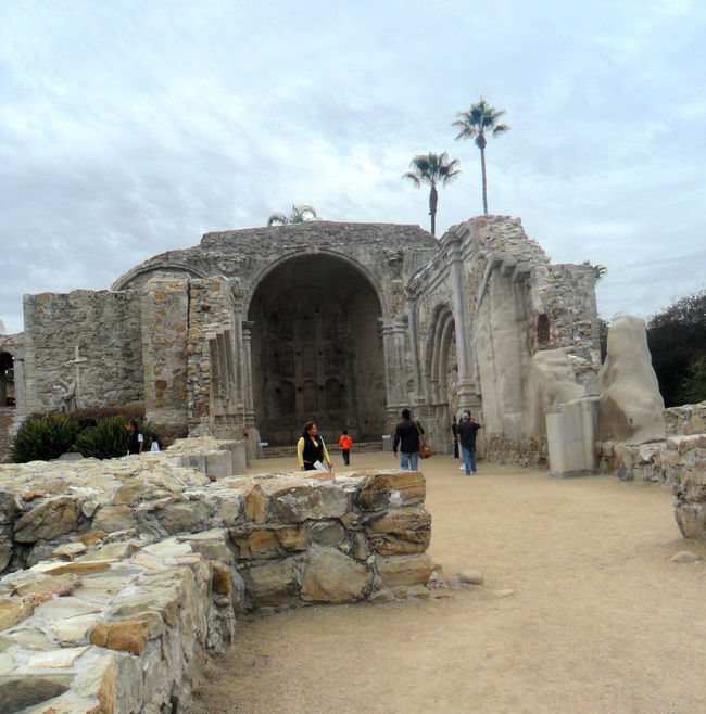 Ancient Ancient Civilization Arch Architecture Built Structure Cloud Cloud - Sky Day Façade Famous Place Historic History Leisure Activity Lifestyles Old Outdoors Palm Trees Ruins Of San Juan Capistrano Mission Sky The Past Tourism Tourist Travel Destinations Vacations