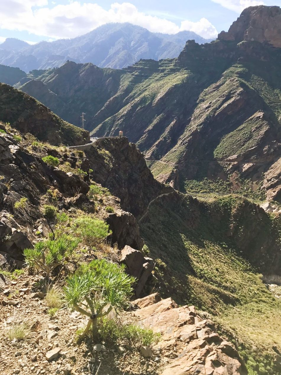 Gran Canaria Artenara Mountain Hiking Nature Landscape Mountain Range Beauty In Nature Green Color Awe Outdoors Scenics No People Day Sky