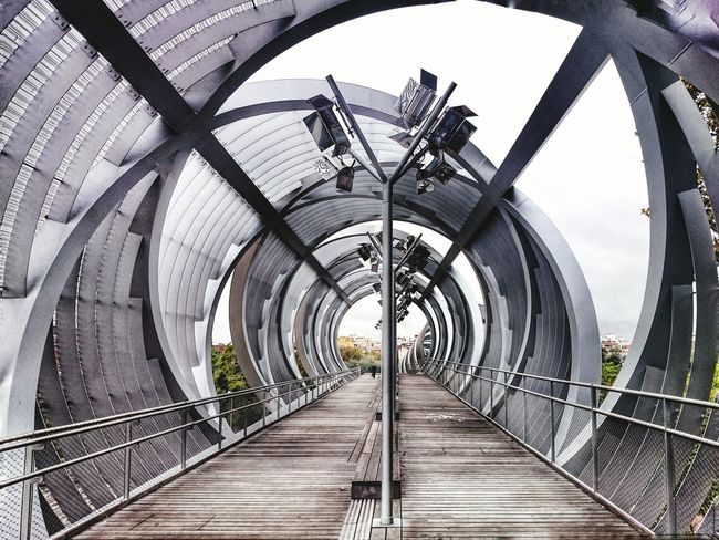 Open Tunnel at Madrid the Arganzuela Footbridge over the Manzanares River by Perrault Streetphotography