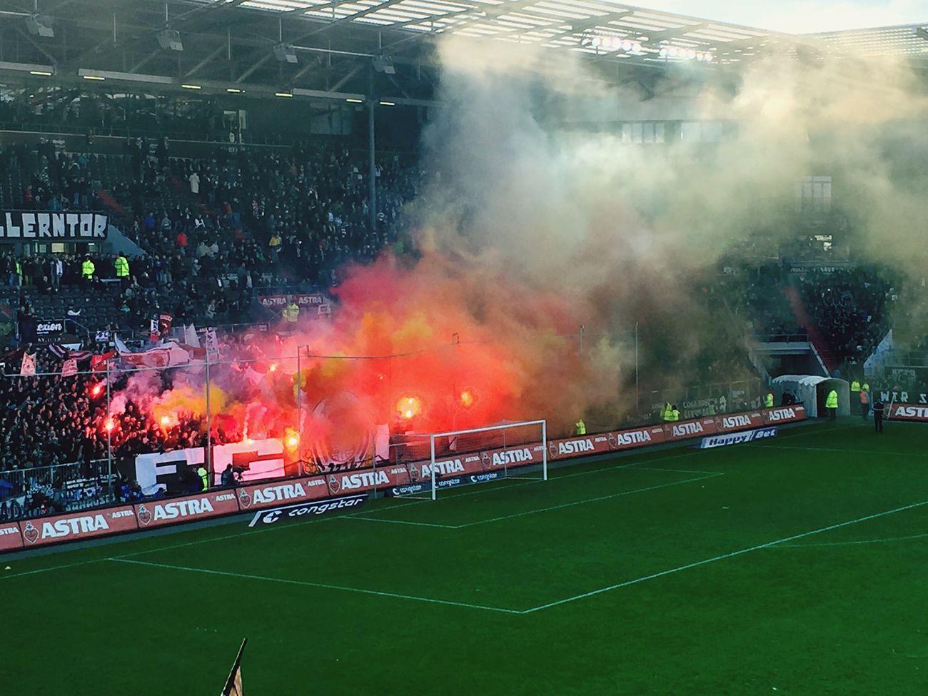 Millerntor Stadium First Eyeem Photo St. Pauli Soccer #fcsp FCSP Hamburg USP Bengalo Bengalisches Feuer