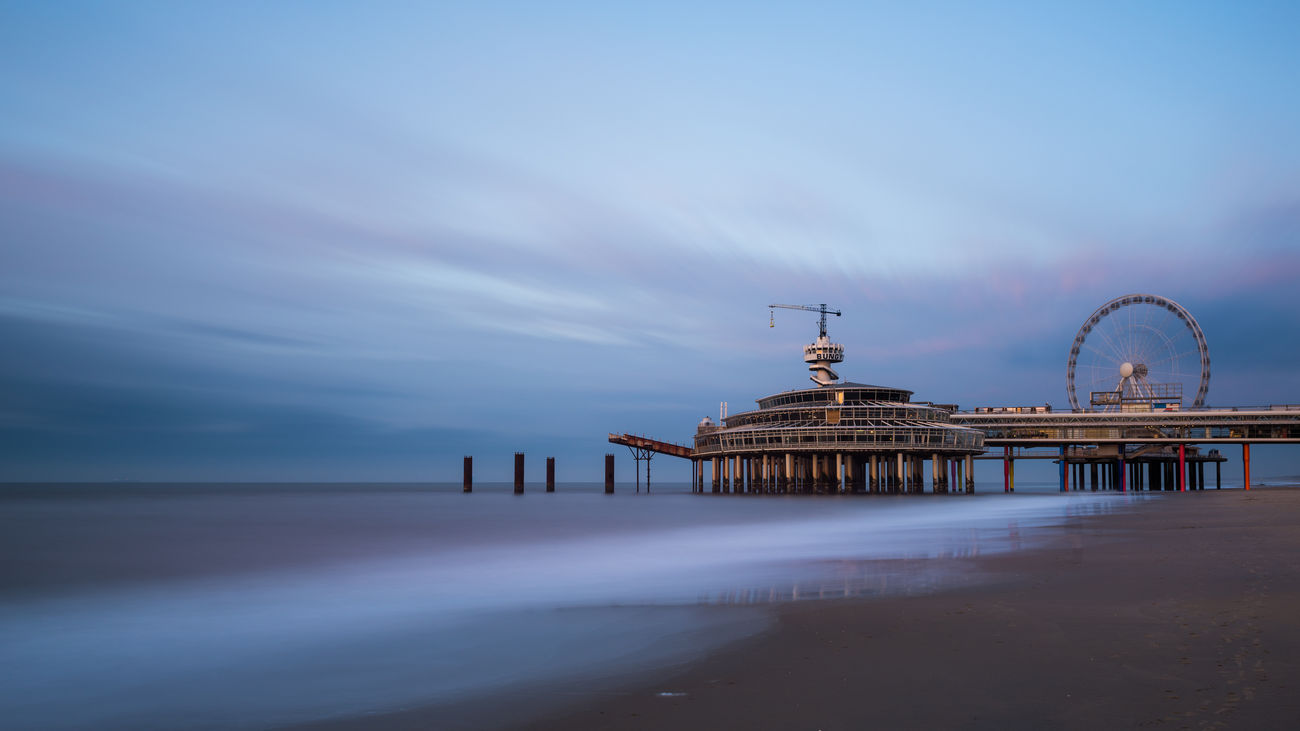 Architecture Dutch Landscape Horizon Over Water Long Exposure Scheveningen Pier Sea Sky Travel Water