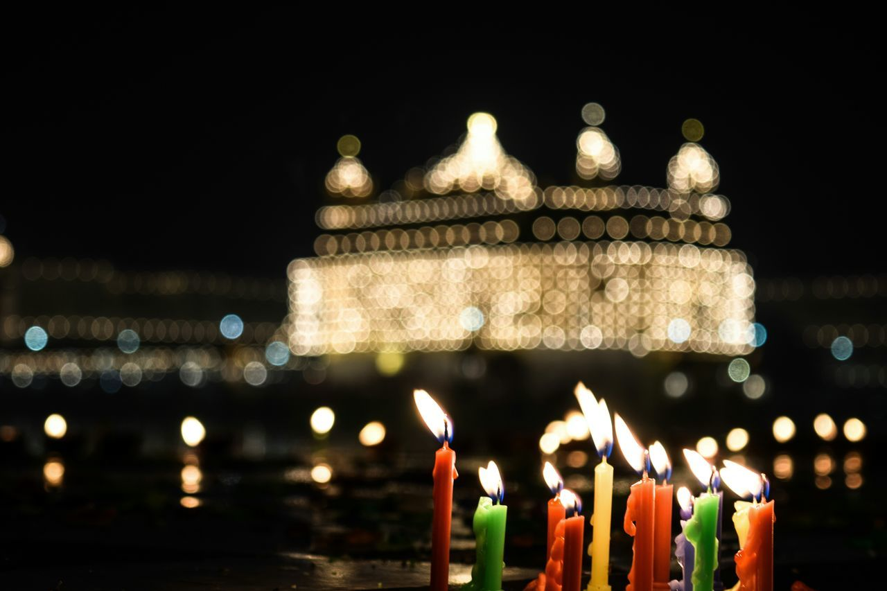 As the night got darker and the breeze felt cold, the comforting warmth of candles and lamps added to the romance of being there. Golden Temple, Amritsar ... InMakin! Words Golden Temple Amritsar Illuminated Night Architecture Outdoors Travel Destinations Religious Architecture Peace And Quiet Religion Spirituality From Where I Stand My Unique Style Perspective Taking Photos Light In The Darkness Darkness And Light Popular Photos Selective Focus ExpressYourself Bokeh Candles Finding New Frontiers