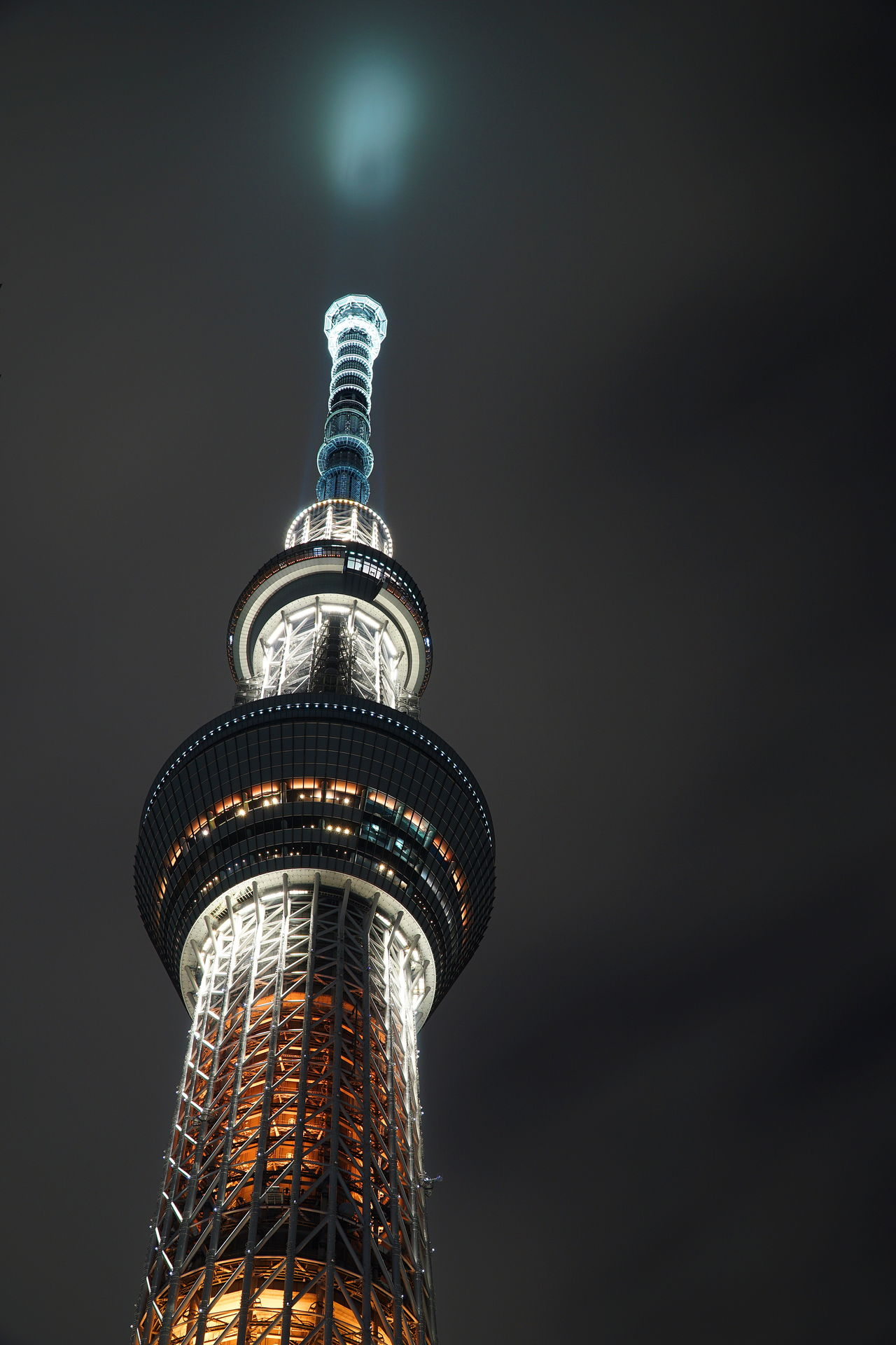 Architecture Built Structure Illuminated Low Angle View Night Skytree Tokyoskytree Tower Travel Destinations The Architect - 2017 EyeEm Awards