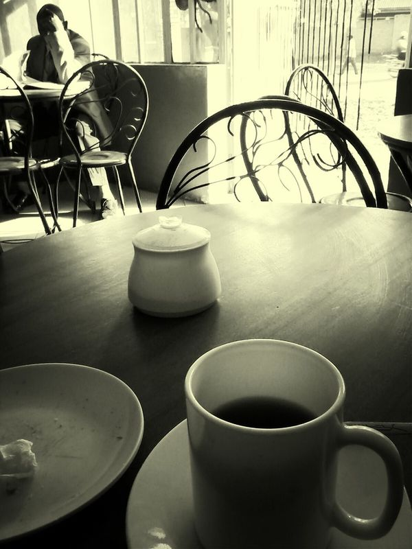 Reflective Breakfast! on a New Beginning . Monochrome perspectives