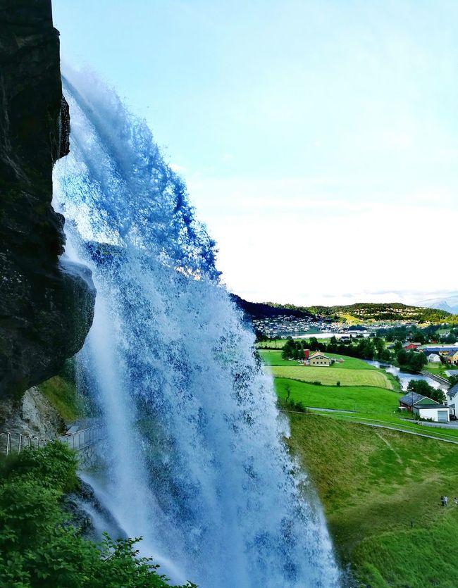 First Eyeem Photo Norway Waterfall Beautiful Nature Norheimsund Nature Photography Nature