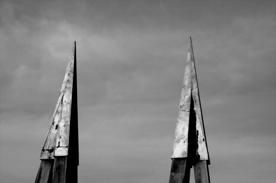 Spiked Series 5 Reflections In The Water Architecture Blackandwhite Photography Mirrored No People Reflection Silhouette Sky Spiked