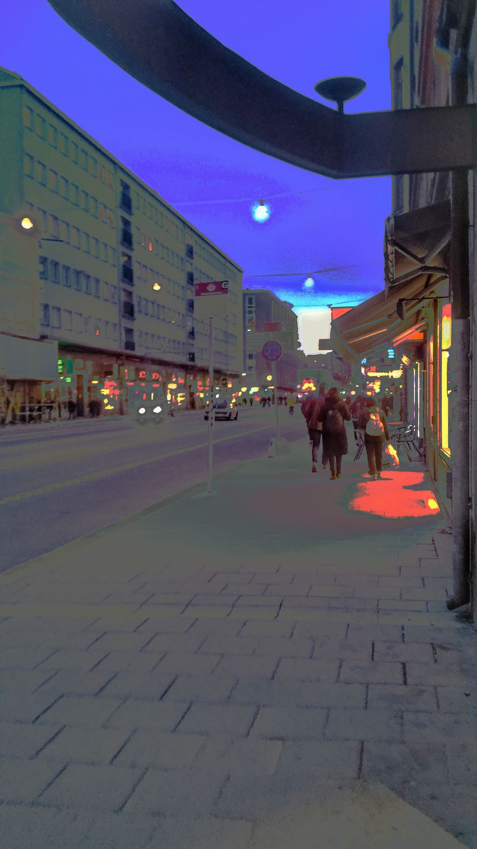 Streetviewphotography Building Exterior Outdoors City Built Structure City Gate Lights In The Dark Streetphotography People Stockholm, Sweden
