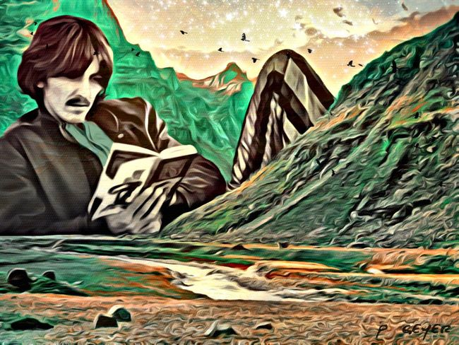 While his guitar gently weeps... EyeEm Best Edits Mob Fiction AMPt_community My Art NEM Submissions Surrealism Digital Art NEM Painterly GeorgeHarrison