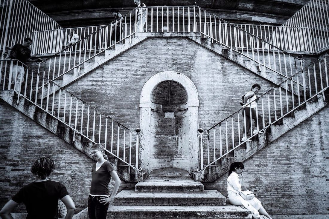 Stairs Stairways Symmetry Blackandwhite Photography Monochrome Blackandwhite Black And White Photography Black&white Black & White Black And White People Walking  People Standing Up And Down OneFrame OneFrame Photography