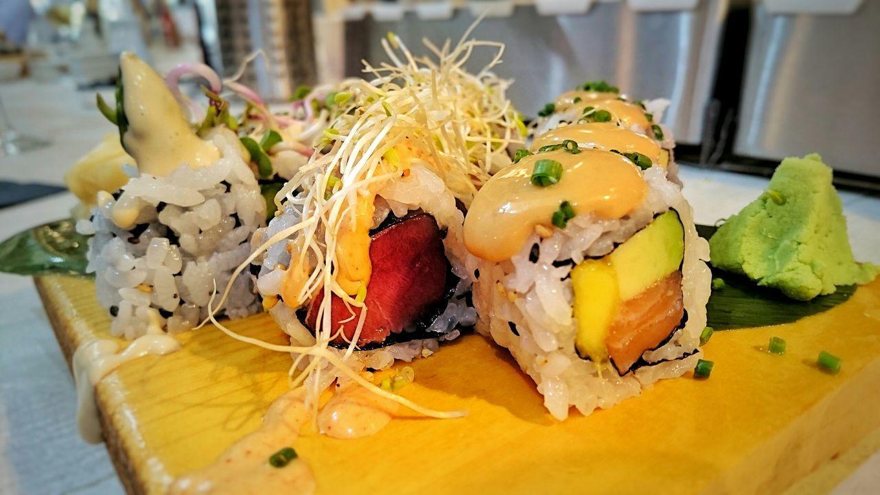 Starting A Trip Fresh Food Sushi Enjoying Life Sony Xperia Z3+