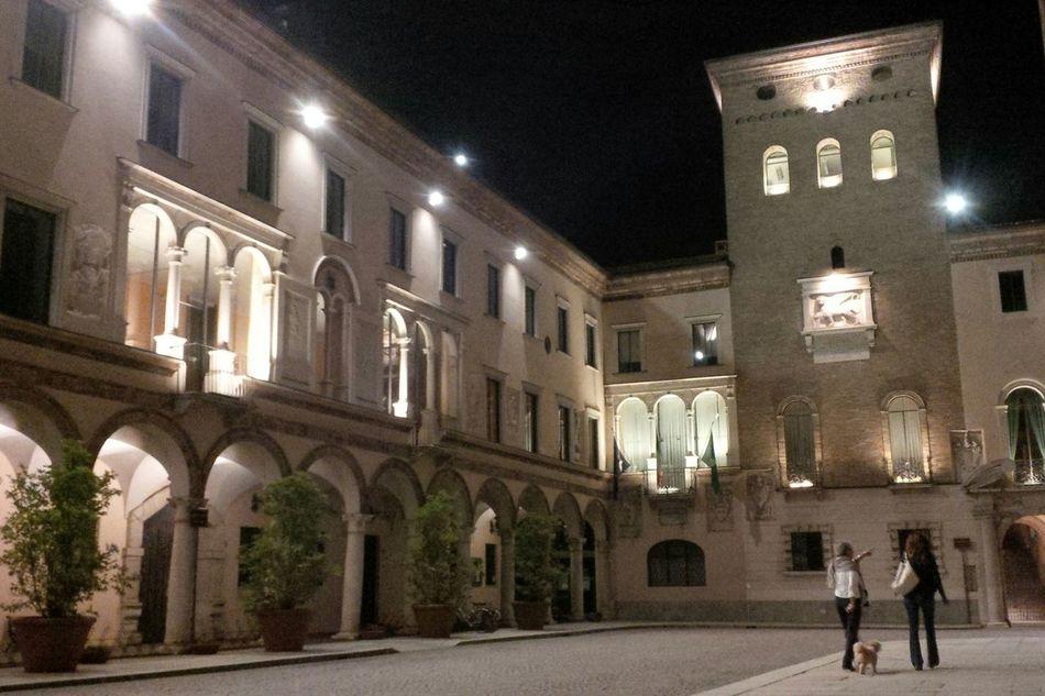 Night Architecture Illuminated Crema, Italy Piazza