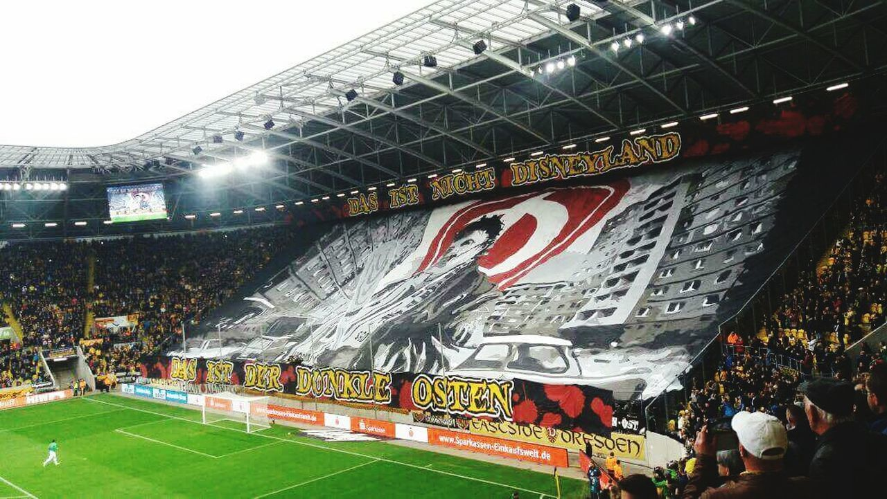Stadium Crowd Large Group Of People Competitive Sport Competition Playing Field Outdoors Soccer Field Dynamo Dresden Ultras Ultrasdynamo Eastgermany GERMANY🇩🇪DEUTSCHERLAND@ Sport Soccer Spectator People Fan - Enthusiast Audience Sports Team Match - Sport American Football - Sport Day Adult Adults Only First Eyeem Photo