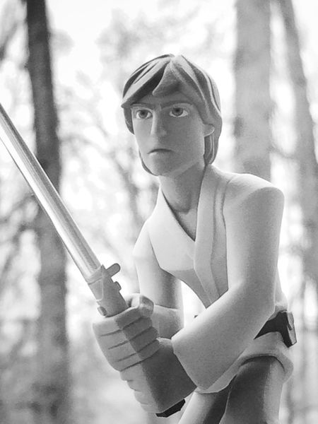 Luke Skywalker Toy Toy Photography Starwars Starwarstoys Starwarsfigures Disney DisneyInfinity Black&white Blackandwhite Black & White Black And White Lukeskywalker Jedi ShotOnIphone