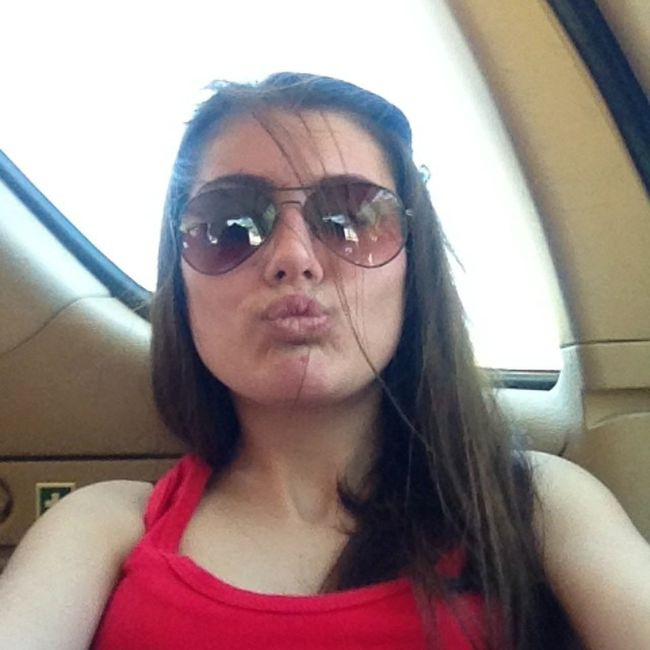 Long Hair Red Shirt Ray Ban Duck Face In The Car Omw To  Beirouth Shopping