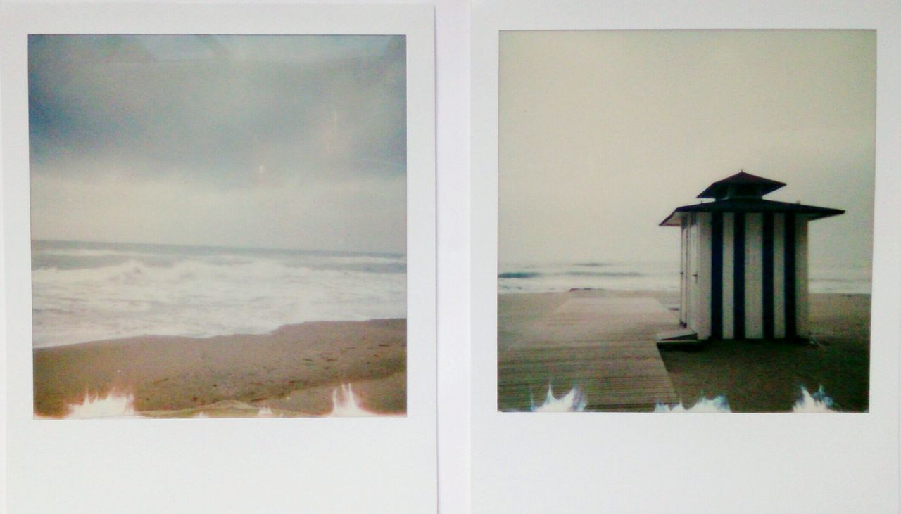 Calafell Sea Water Tranquility Built Structure Architecture No People Beach Nature Day Outdoors Instantphoto Polaroid Photography MyArt
