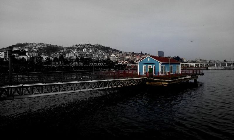 #AWAY FROM Houses #bridge #building #colours #nice #sea #Turkey/Kocaeli-Seka #white-black-r