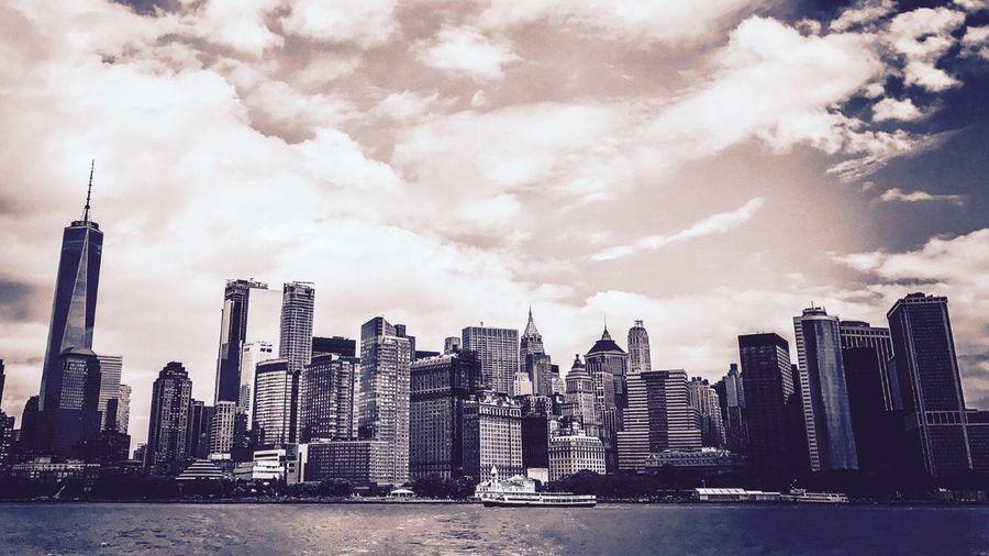 New York Skyline from ferry to Liberty Island First Eyeem Photo
