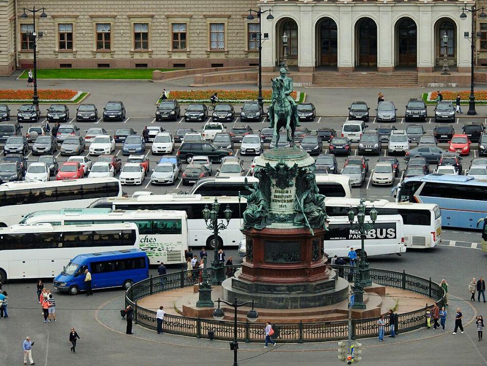 Travel Day People Isaak Square Nikolai 1 Monument Summer Memories 🌄 Colors Of Sankt-Peterburg Sankt-Petersburg Russia