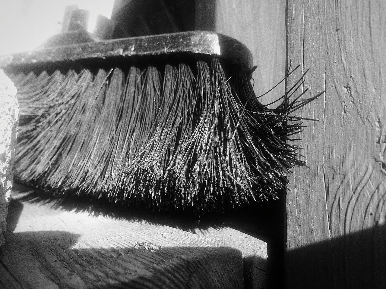 Close-Up Of Broom At Home