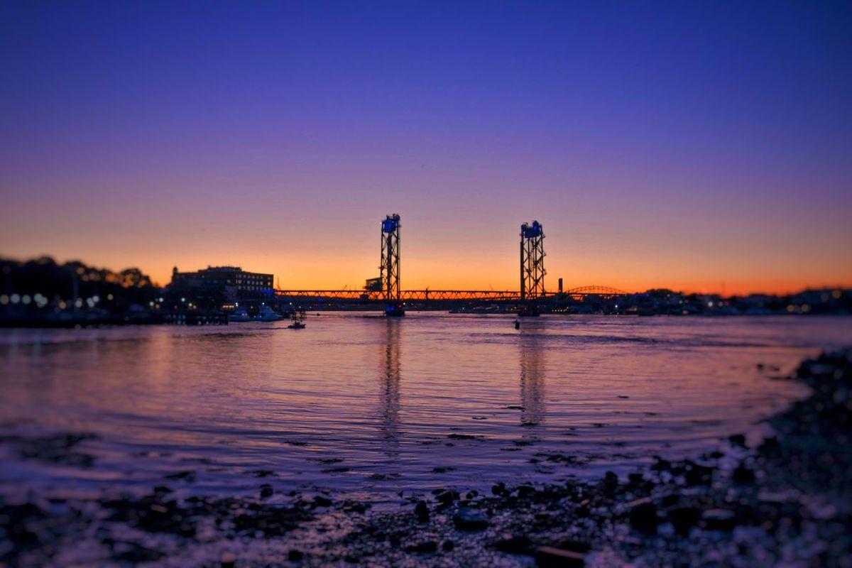 Portsmouth, NH Memorial Bridge Portsmouth Harbour Portsmouth Sunset Portsmouthnh Sunset Bridge New Hampshire Sunmertime NH Seacoast