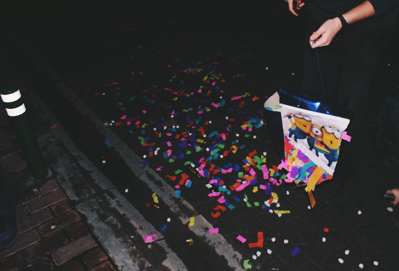OOOH BANANA! Multi Colored Minions Night Fun Confetti Celebration