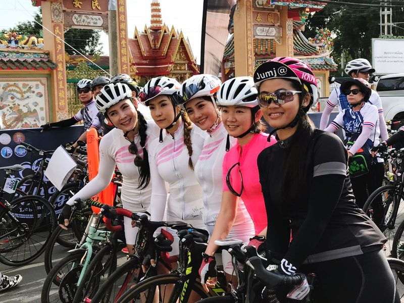 EyeEm Thailand ThaiLocal Bicycle Tournament Cycling Cyclist Portrait Togetherness Starting Grid
