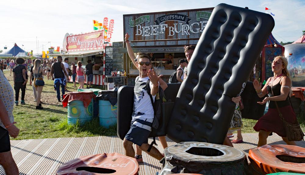 Festival Glastonbury 2015 Glastonbury Festival Inflatable Bed Leisure Activity Lifestyles Outdoors