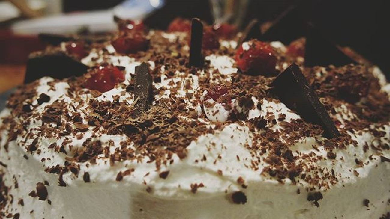 2016 /031 | PhotoADay 366days The Jerminator loves black forest cake and I've only made this once for him on his birthday. I tried my best this time for it to look a slightly better than the last cowpie. Kwixpix366 Gx7 M43