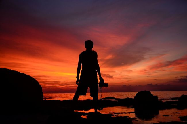 Let's pain with the light Anyerbeach Anyer  Beach Sea Photooftheday Photography Nikon D7000 Nightfall View First Eyeem Photo Nusantara Sunset Nature Landscape Nature_collection Adventures INDONESIA Traveling