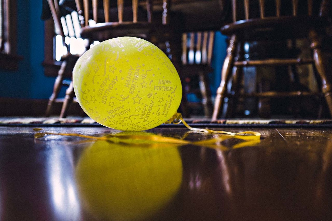 Beautiful stock photos of balloon, Balloon, Chair, Floor, Indoors