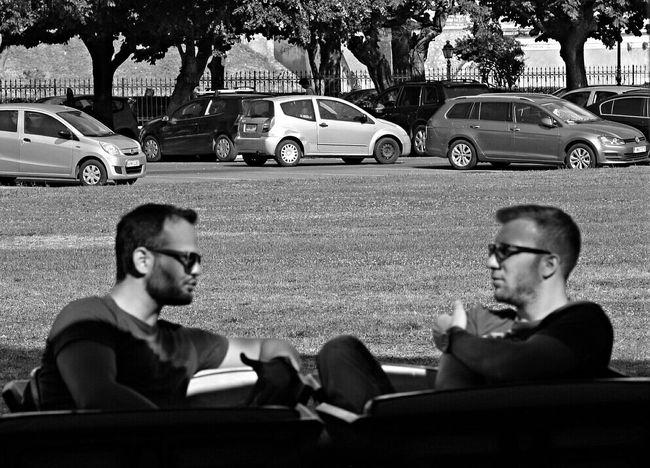 Men Talking Men Talk Cars Street Photography Cafe