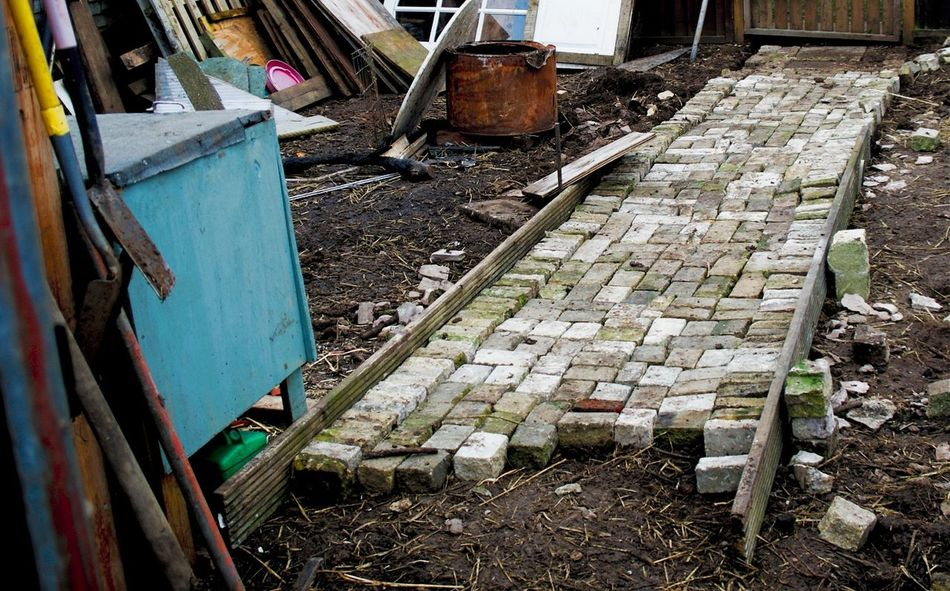 Brick Work Diy Project High Angle View Outdoors Day No People Path Pathway Built Structure Architecture Rural Scene