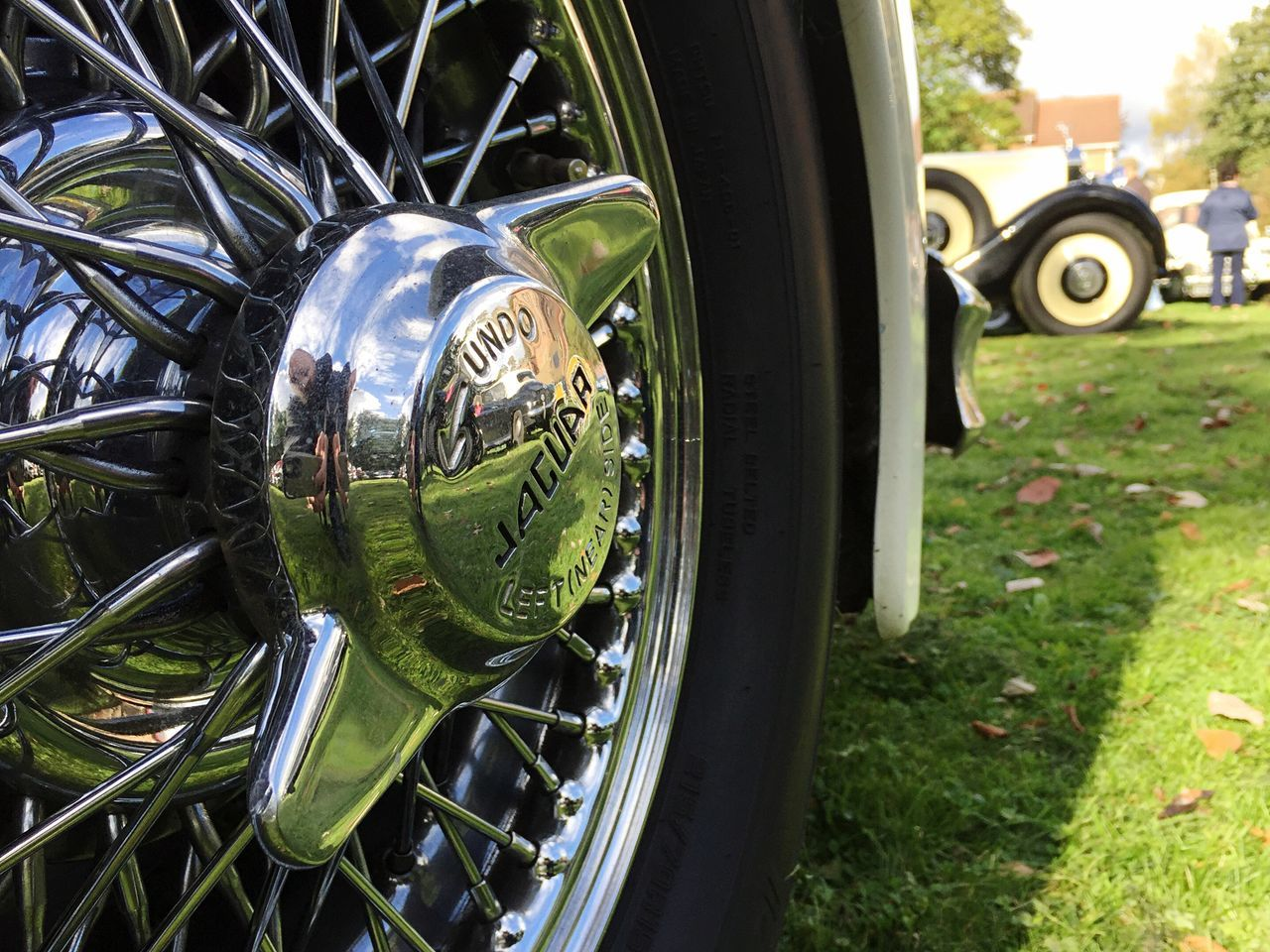Vintage Cars. JAGUAR Spoked Wheels