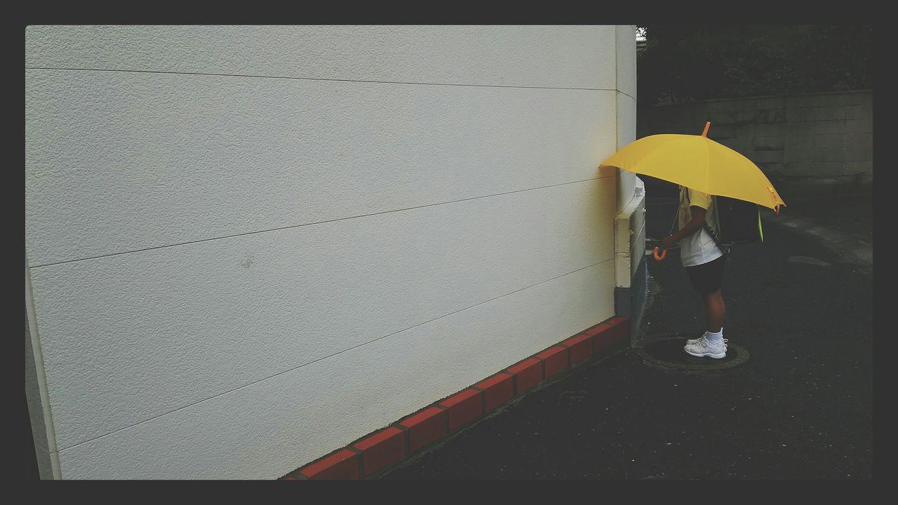参観日、楽しかった Rainy Days Rainy Day Unbrella Japan Yellow
