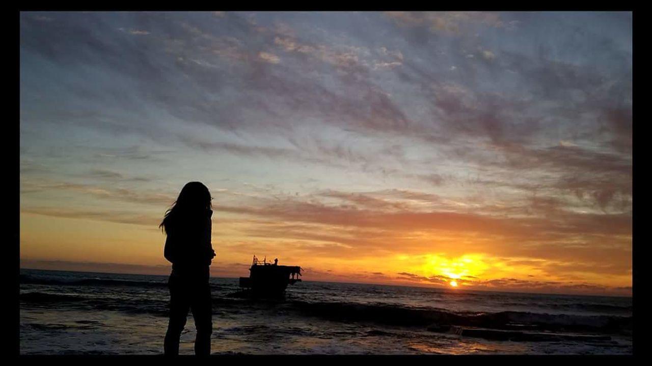 Sunset Sea Sea And Sky Autumn Shipwreck Shipwreck Beach Colors Sky Tranquil Scene Standing Beach Silhouette Limassol, Cyprus Water Orange Sky EyeEm Tranquility Tranquilscene Person Limassol Cyprus
