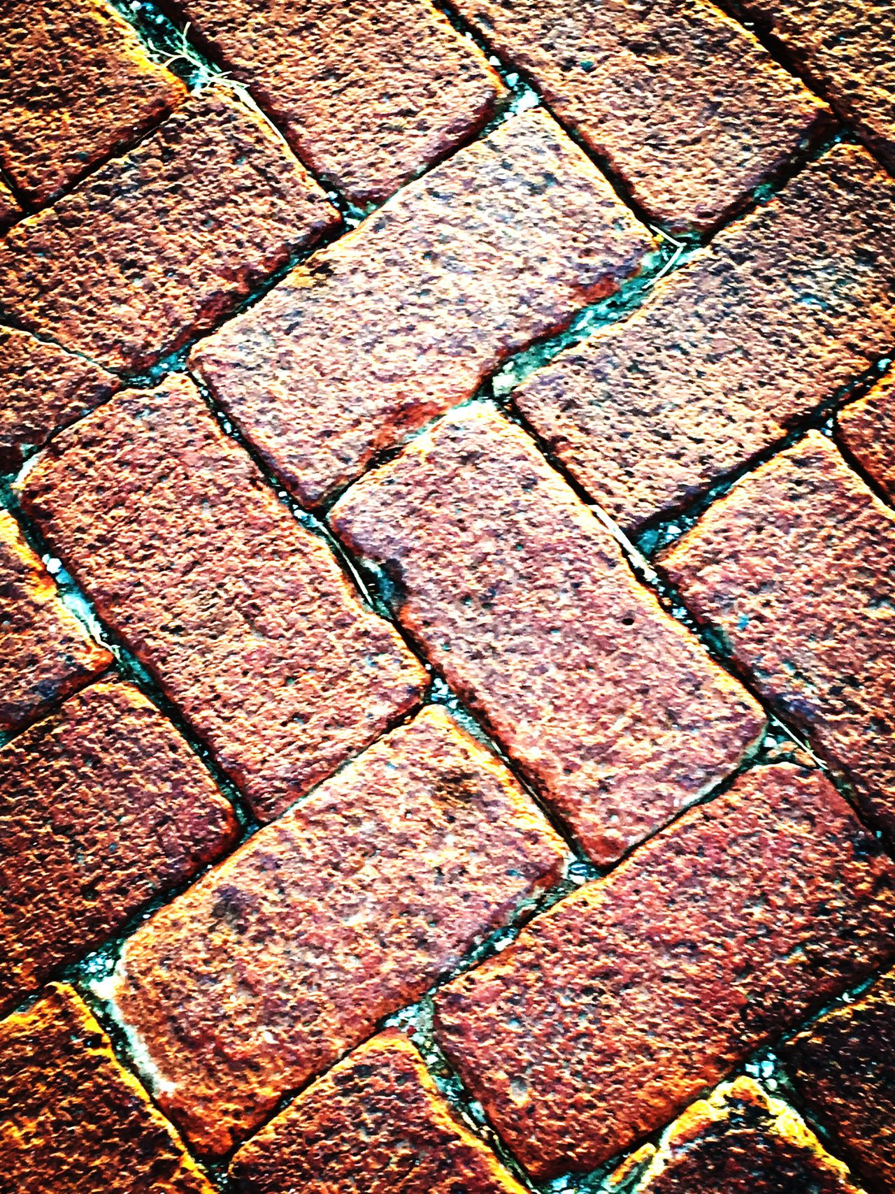 Maximum Closeness small town old red brick roads Backgrounds Full Frame Pattern Textured  No People Day Outdoors Close-up Brick Redbrick Road Street Streetphotography Old