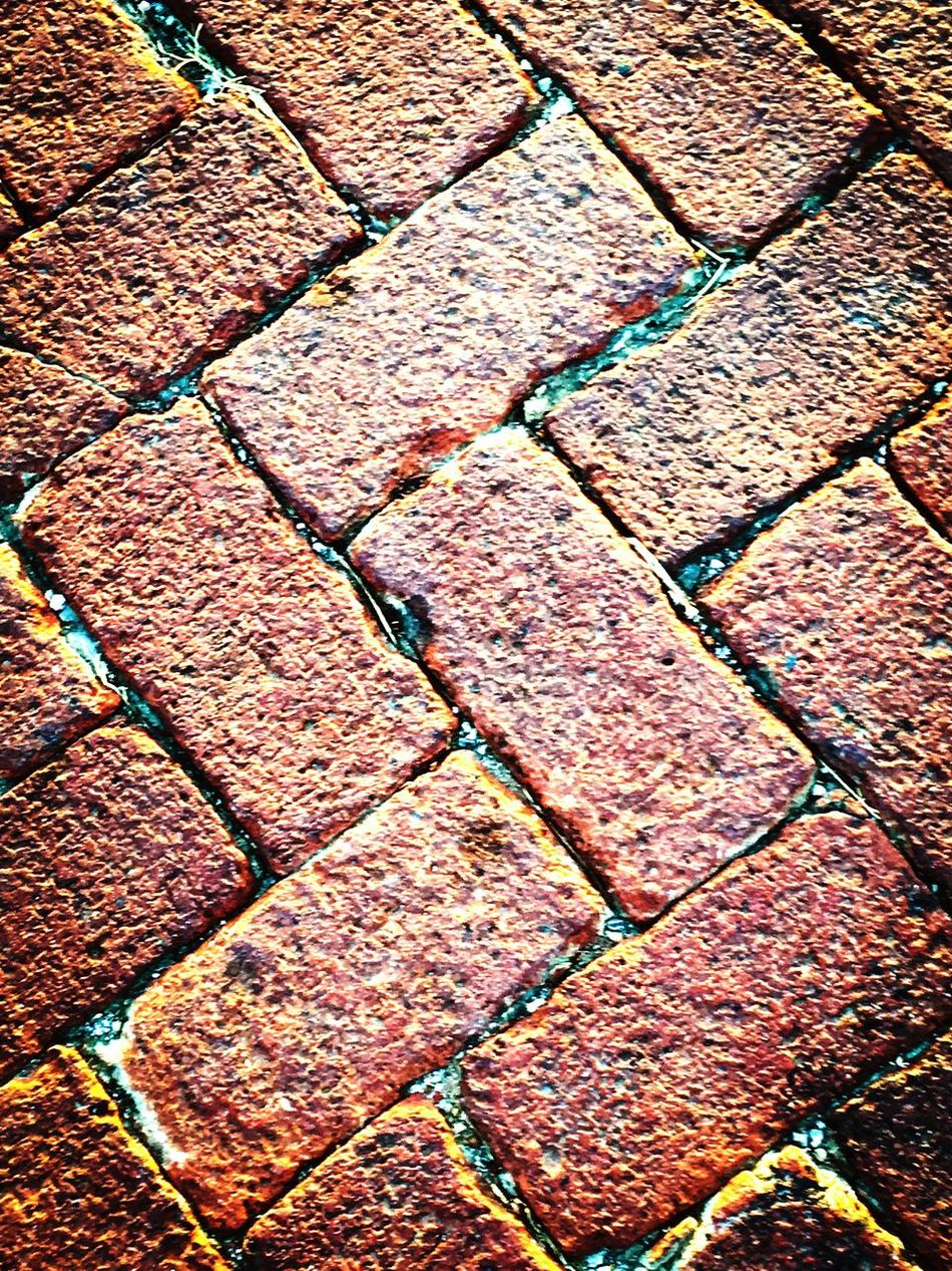Maximum Closeness small town old red brick roads Backgrounds Full Frame Pattern Textured  No People Day Outdoors Close-up Brick Redbrick Road Street Streetphotography Old Landscape Adapted To The City The City Light Art Is Everywhere