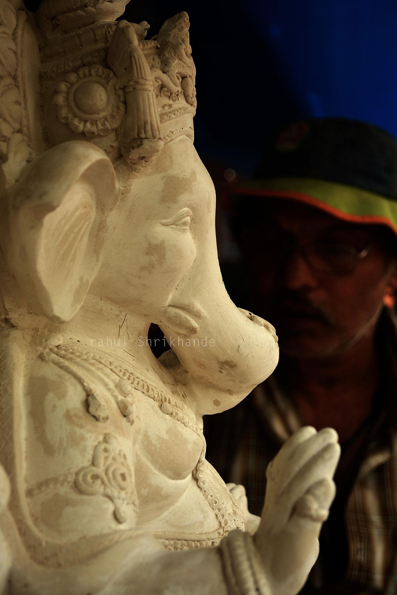 Making of GOD! Ganpati Blackandwhite