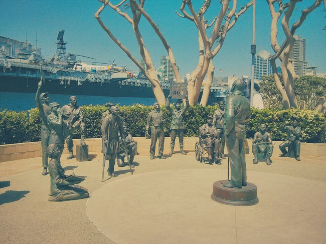 go get'em bob Being Entertained San Diego Bay Downtown San Diego Statues