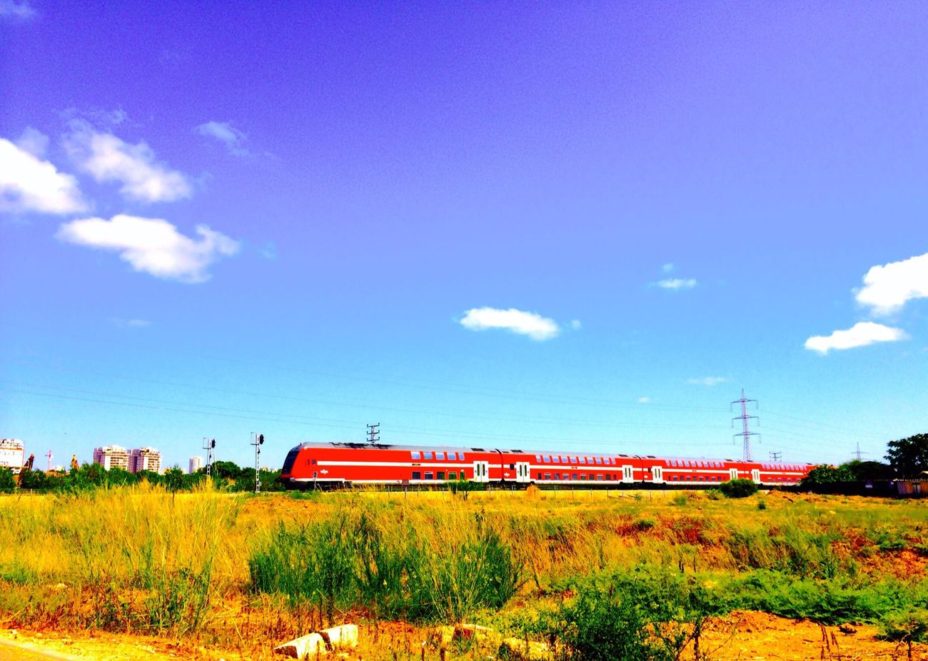 Waiting For The Train! Sky And Train Summer Sky! Enjoying Life