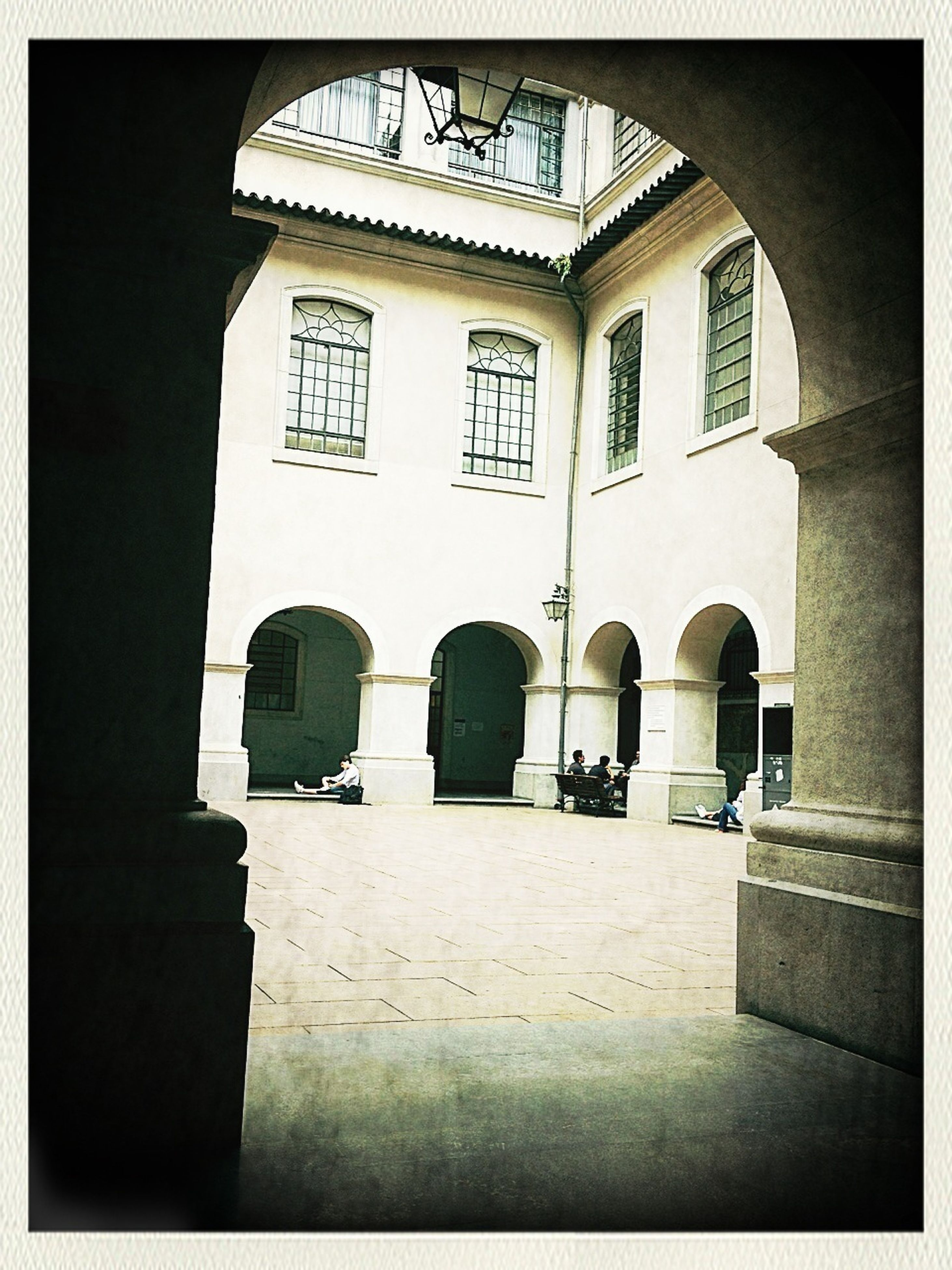 architecture, built structure, arch, building exterior, transfer print, entrance, window, auto post production filter, building, facade, archway, sunlight, courtyard, history, shadow, cobblestone, gate, day, architectural column, indoors