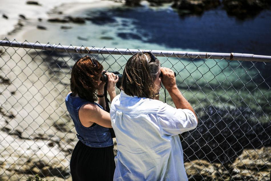 Beautiful stock photos of maternity, Binoculars, Bonding, Casual Clothing, Chainlink Fence
