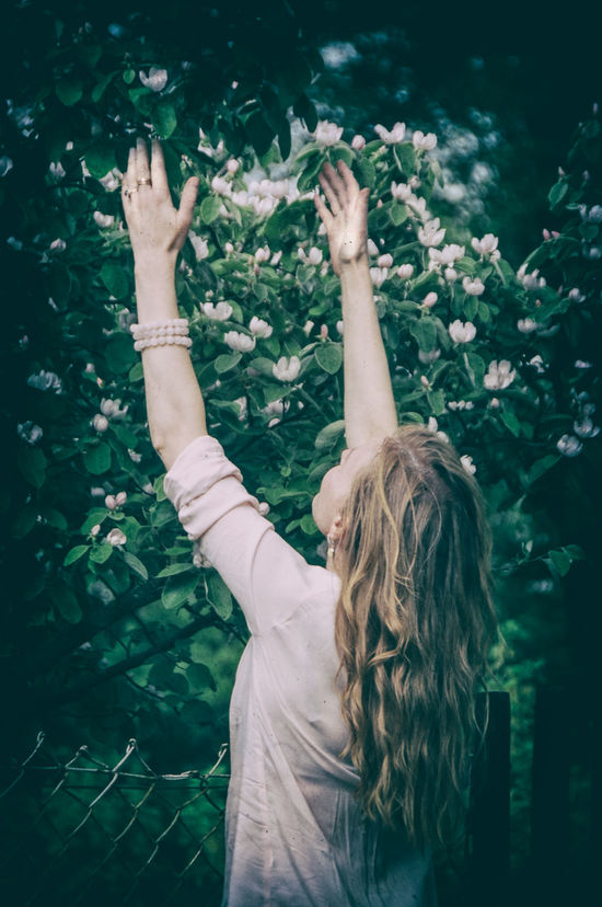 Spring time #blossom #blossoming #Blossoms #flower #spring #white #nature  Day Long Hair Nature One Person Tree Women Young Adult