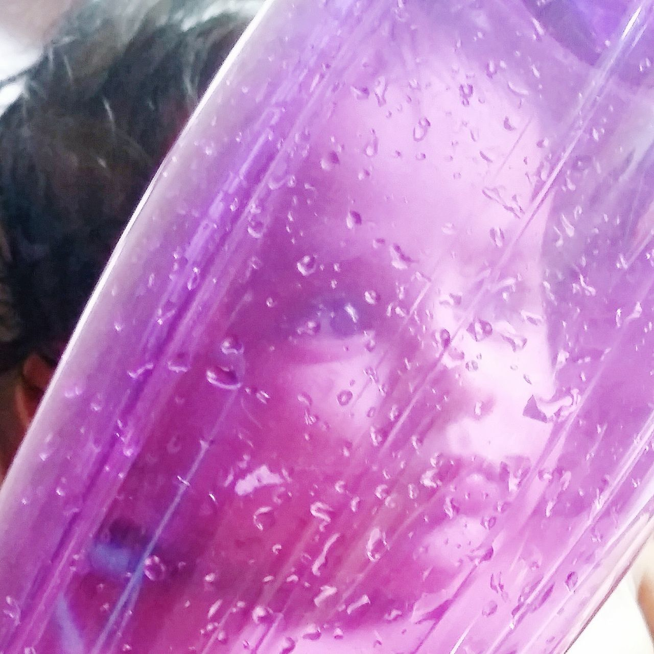 Human Body Part Child Playing With Water Bottle EyeEmNewHere Close-up Indoors  Day Portraitst The Portraitist - 2017 EyeEm Awards Shades Of Purple Portrait Of A Child Babies Only Place Of Heart Playtime