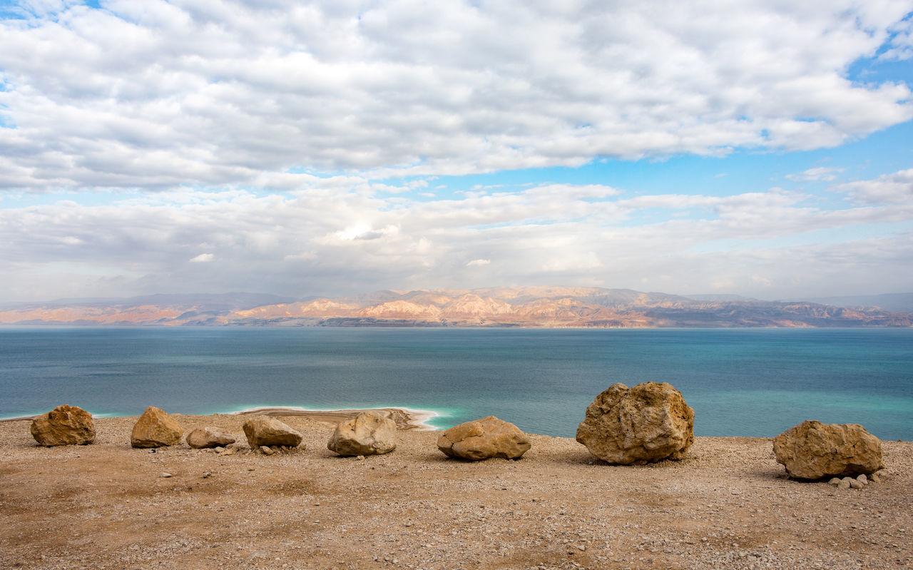 Beauty In Nature Cloud - Sky Deadsea Israel Landscape Nature No People Outdoors Rock Rock - Object Sea Water