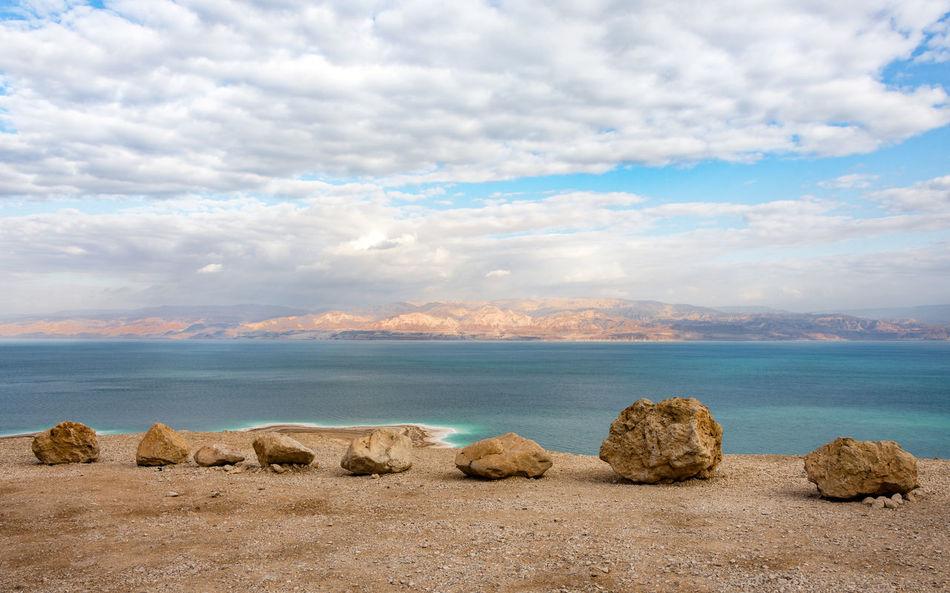 Beauty In Nature Cloud - Sky Deadsea Israel Landscape Nature No People Outdoors Rock Rock - Object Sea Water Long Goodbye