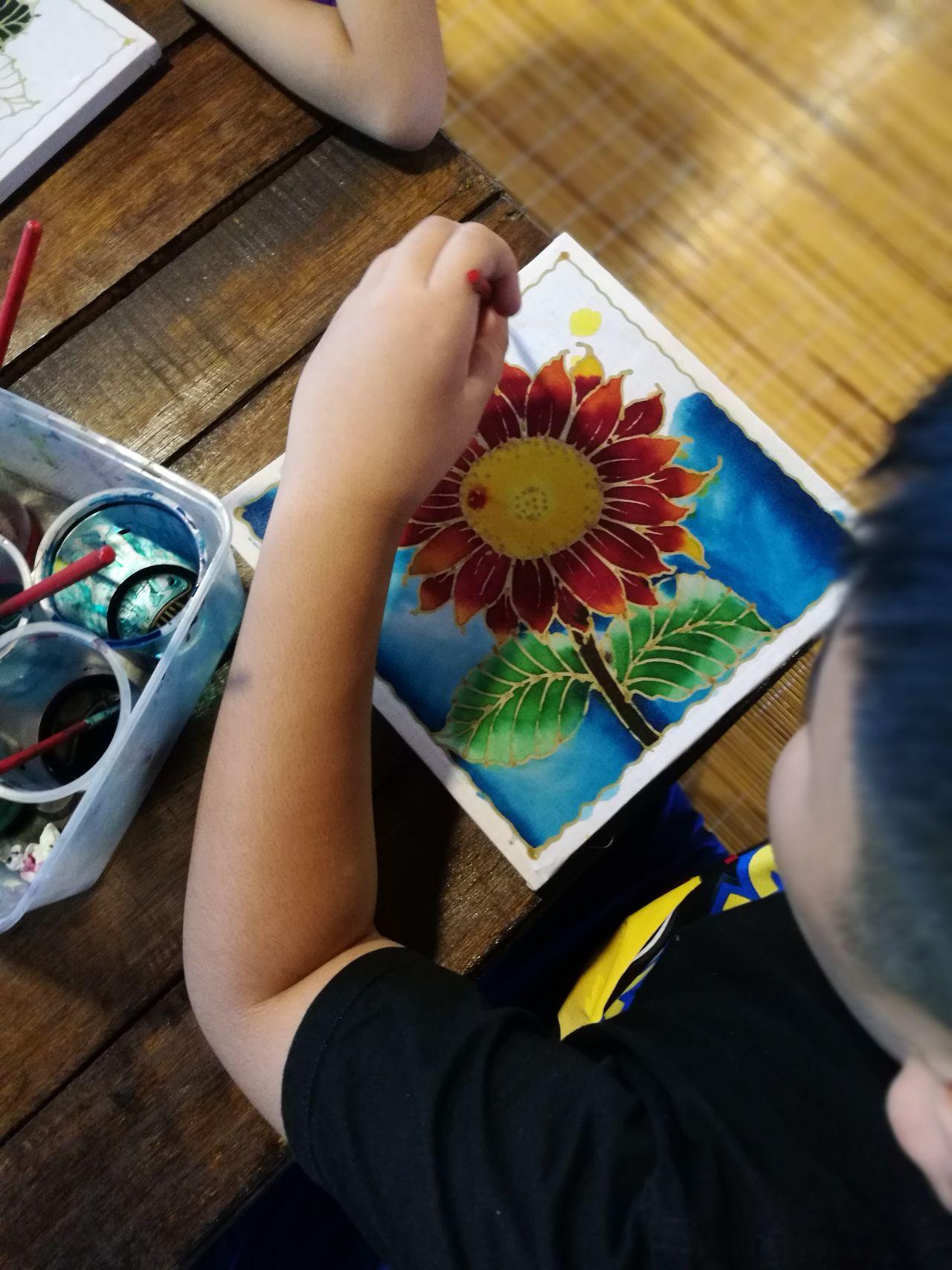 Batik Batik Coloring Child One Person Art And Craft Coloring