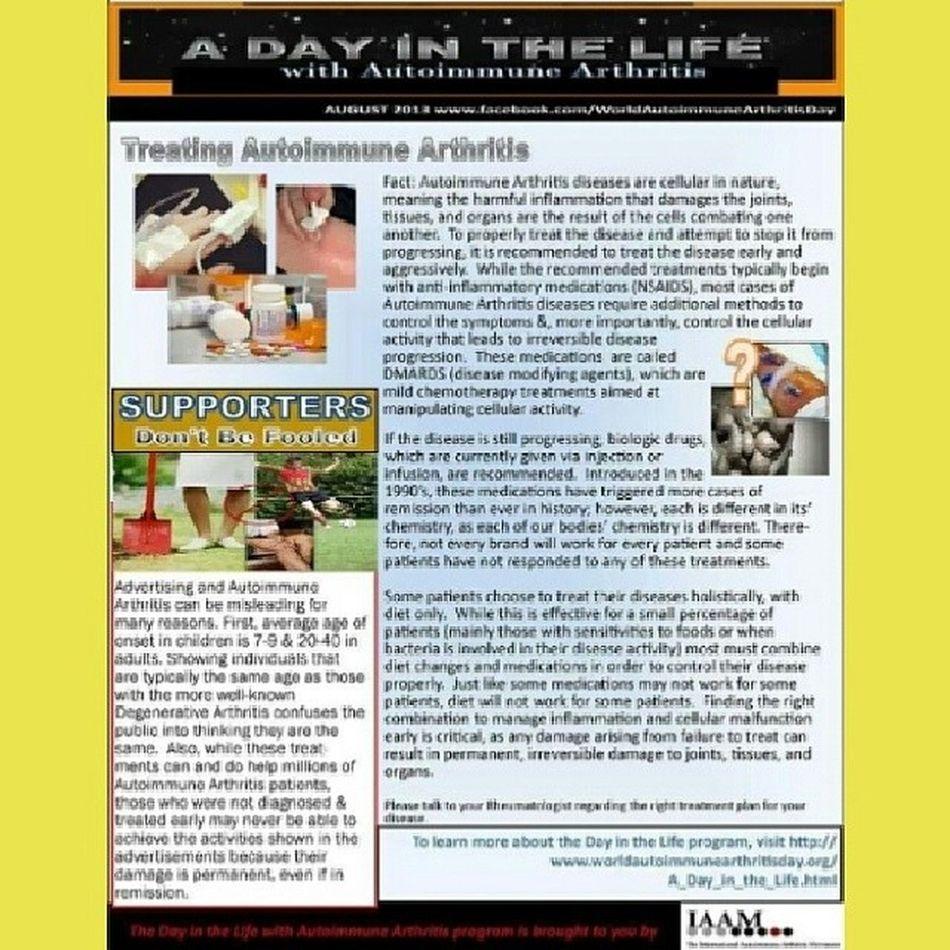 Autoimmune Arthritis Awareness UnitedAdvocacy ADayInTheLife Treatments IAAM